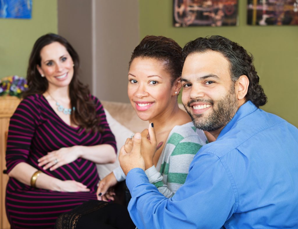 Hispanic Couple with Surrogate Mother