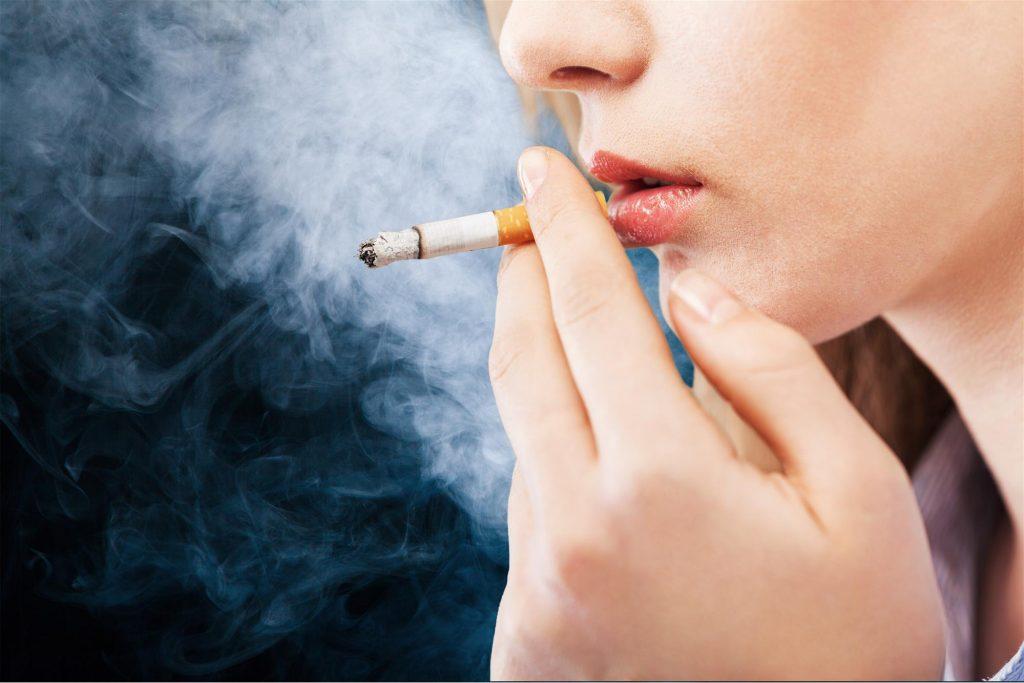 girl smoking cigarette